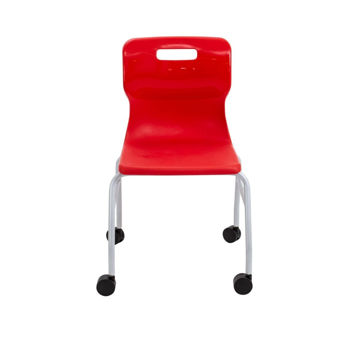 TC Office Titan Move 4 Leg Chair with Castors Red