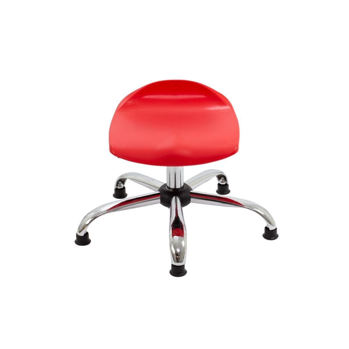 TC Office Titan Swivel Junior Stool with Glides 405-475mm Red