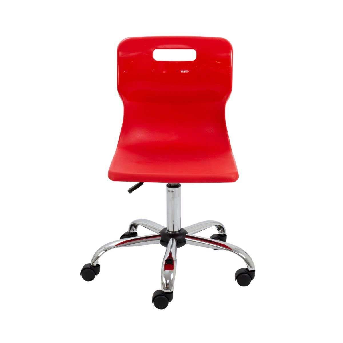 TC Office Titan Swivel Senior Chair with Castors 435-525mm Red