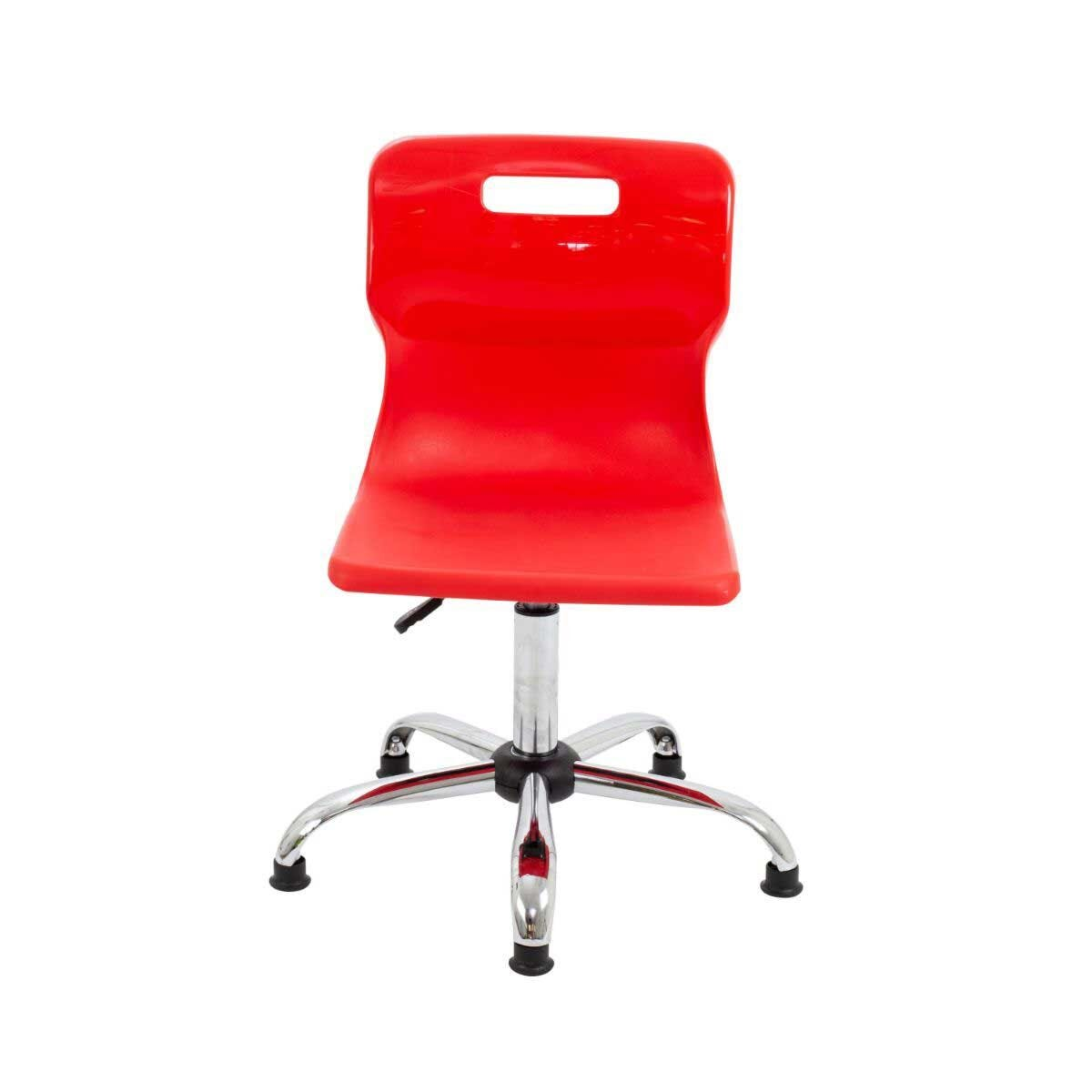 TC Office Titan Swivel Senior Chair with Glides 435-525mm Red