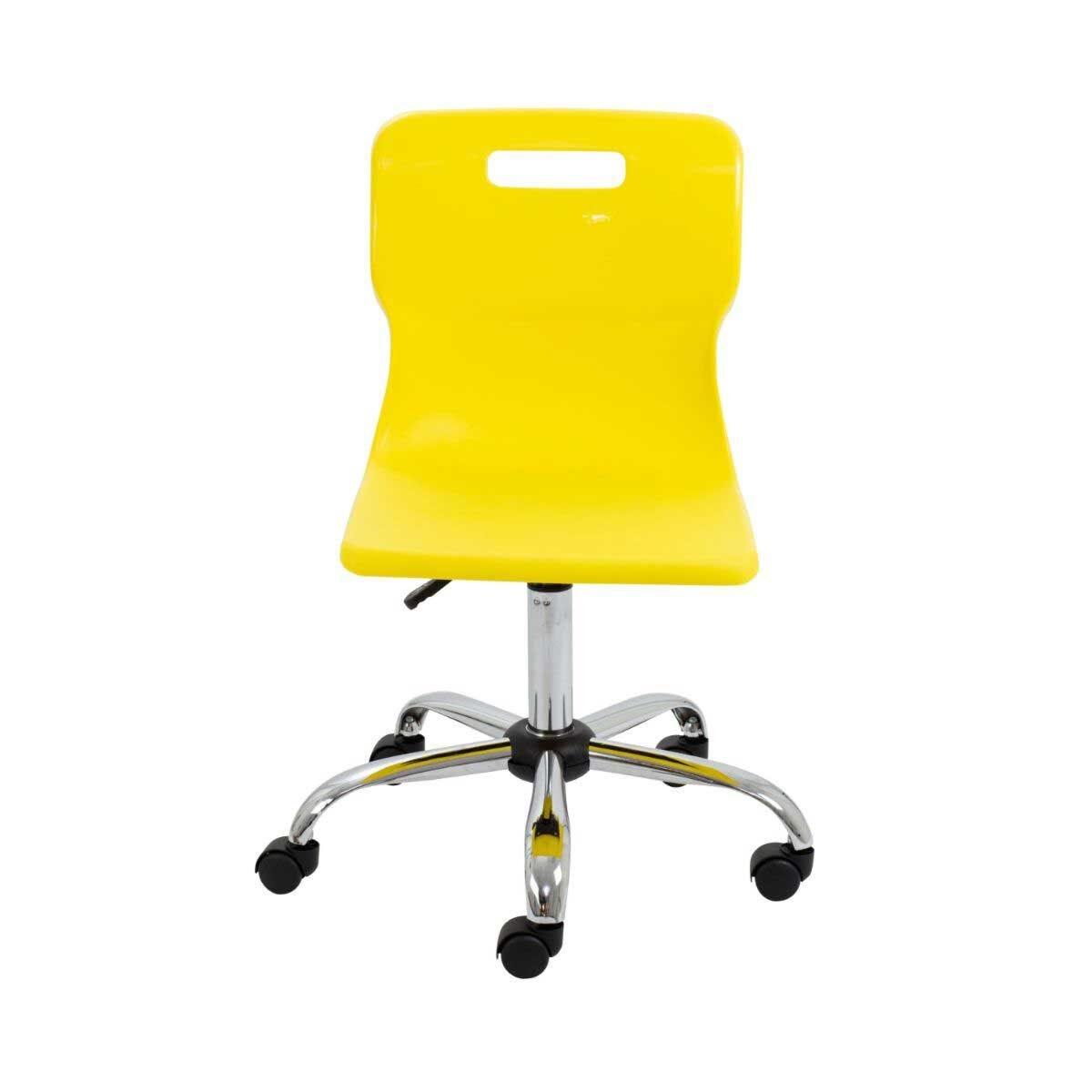TC Office Titan Swivel Senior Chair with Castors 435-525mm Yellow