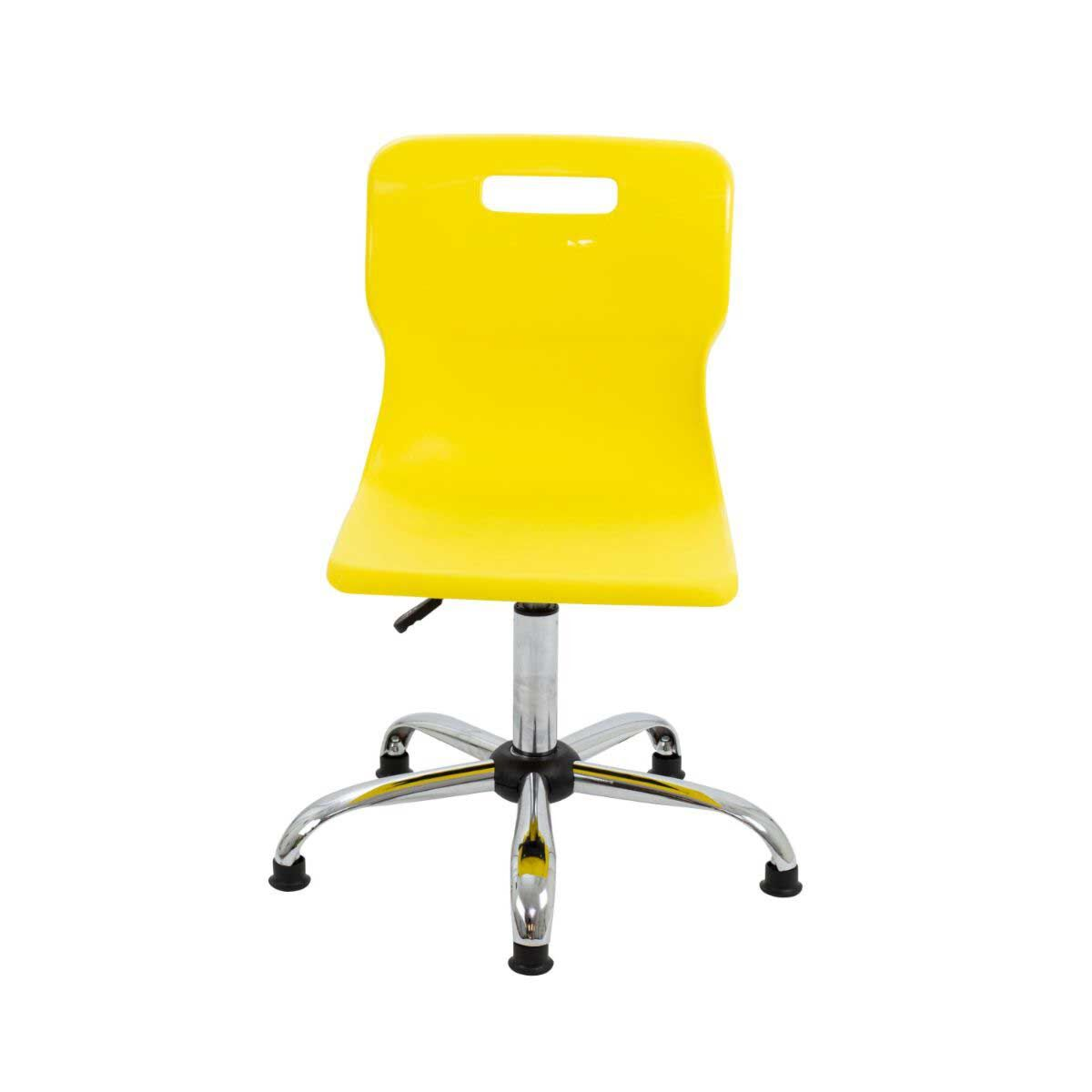 TC Office Titan Swivel Senior Chair with Glides 435-525mm Yellow
