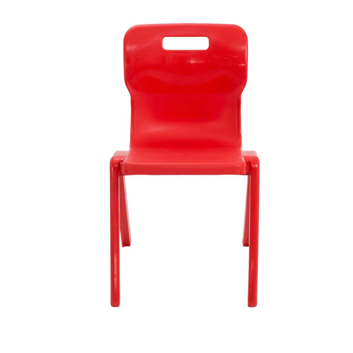 TC Office Titan One Piece Chair Size 6 Red