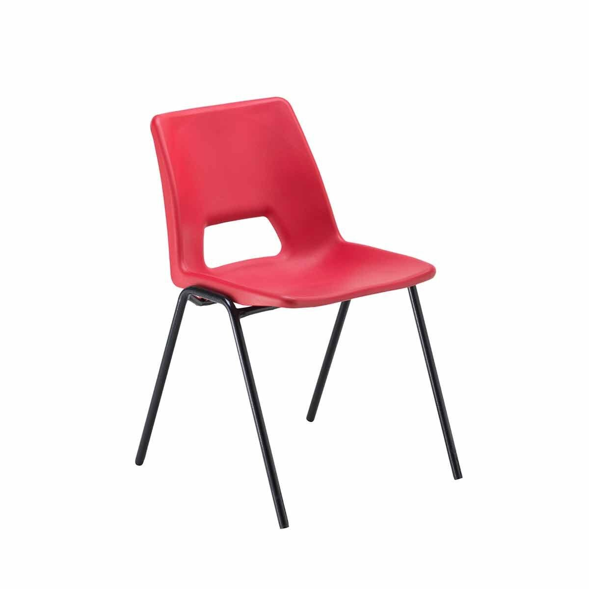 TC Office Economy Polypropylene Chair Red