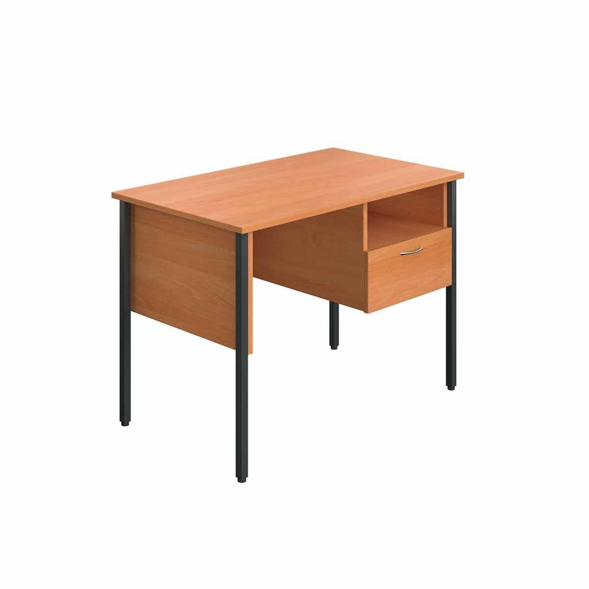 TC Office Eco 4 Leg Homework Desk with Drawer 100cm Beech