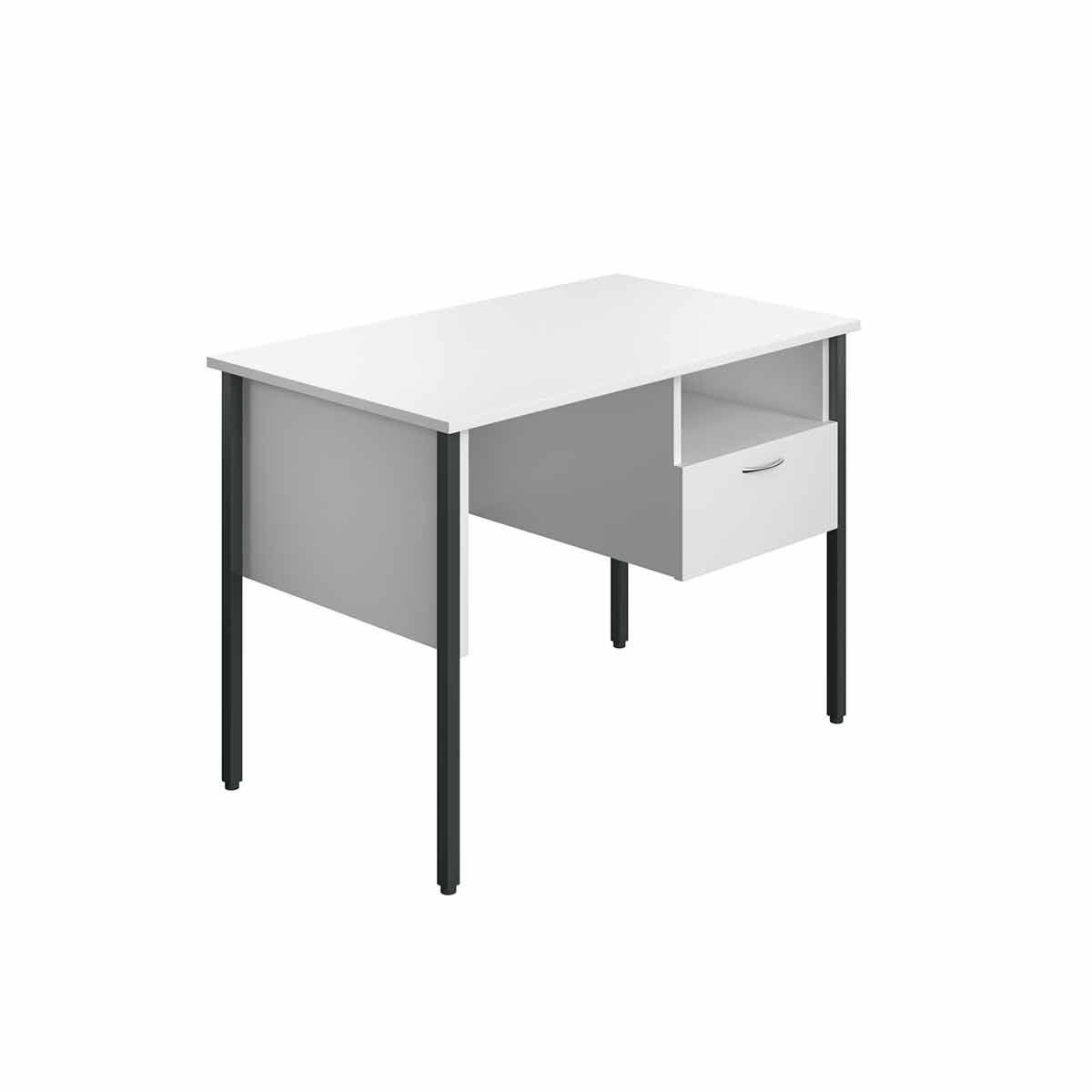 TC Office Eco 4 Leg Homework Desk with Drawer 100cm White