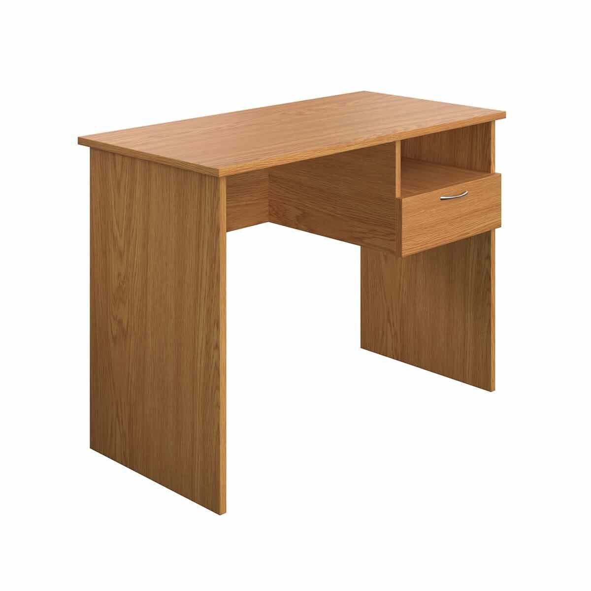 TC Office Eco Homework Desk with Drawer 100cm Oak