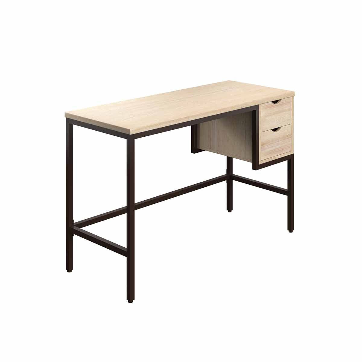 TC Office SOHO Home Working Desk with 2 Drawers Oak
