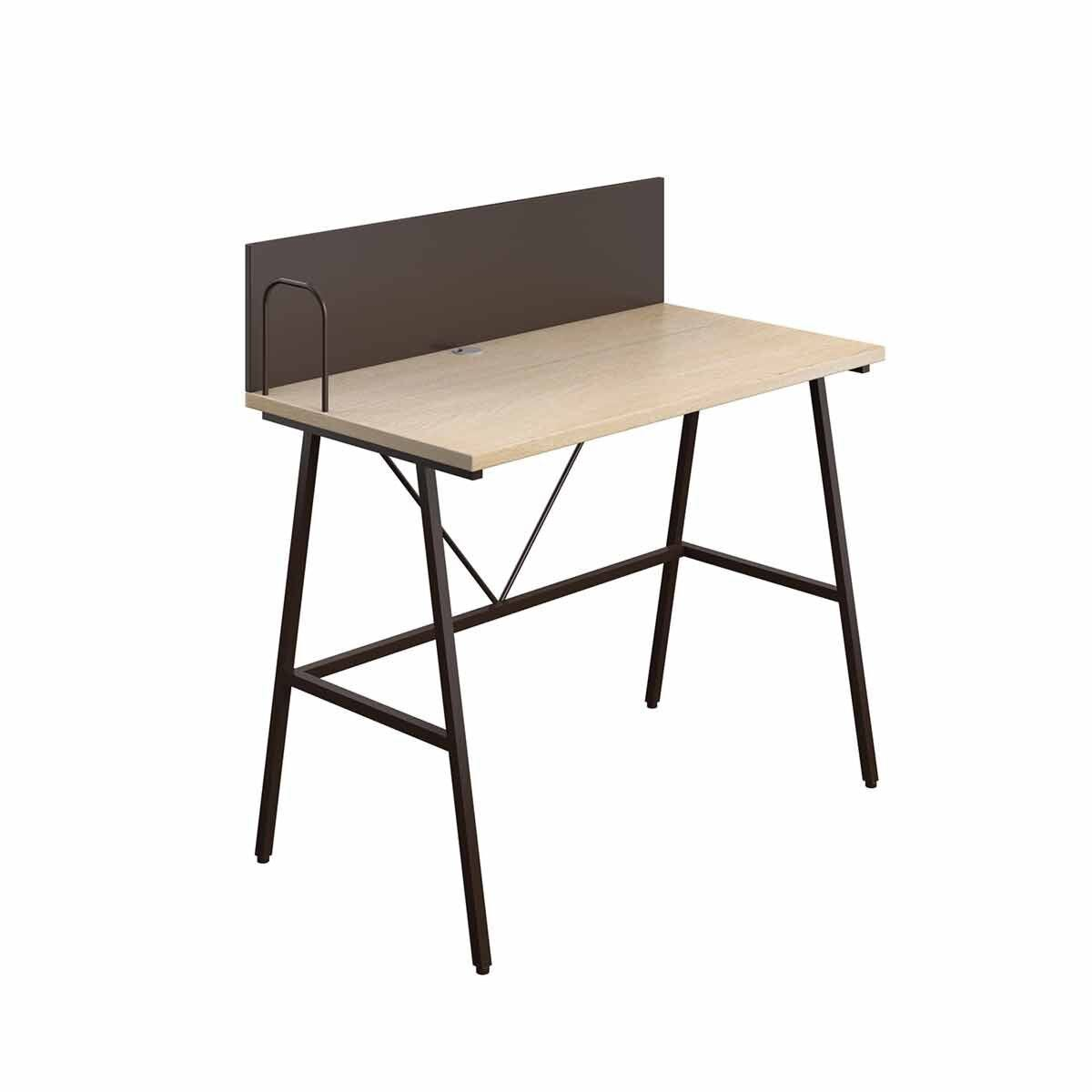 TC Office SOHO Home Working A-Frame Desk with Backboard Oak