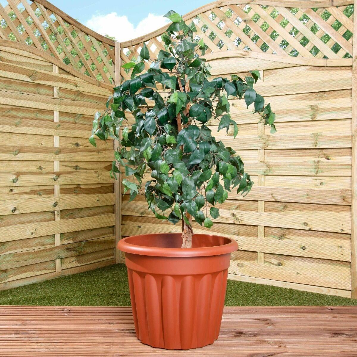 Wham Vista Traditional Planter 50cm Set of 5 Terracotta