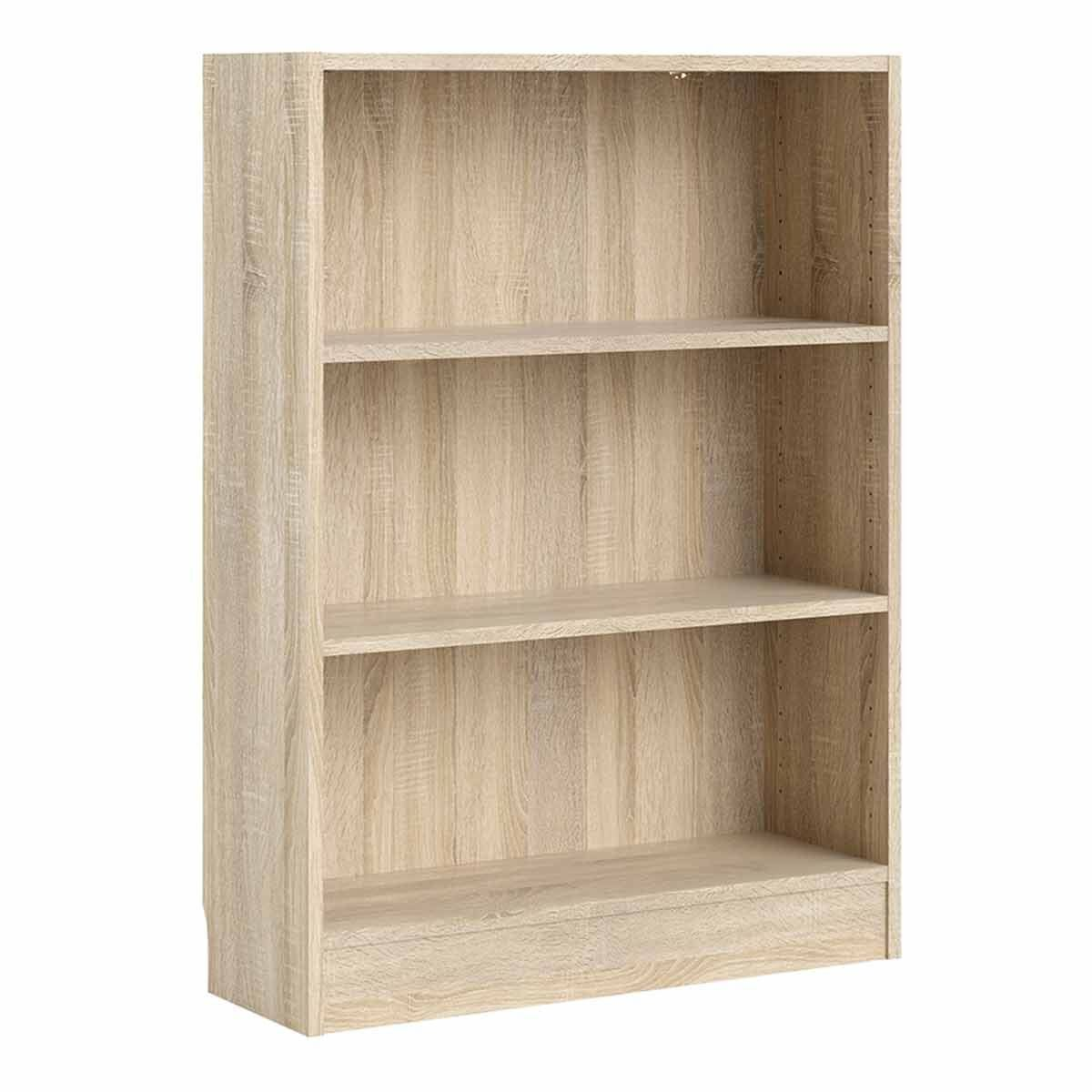 Basic Low Wide Bookcase with 2 Shelves