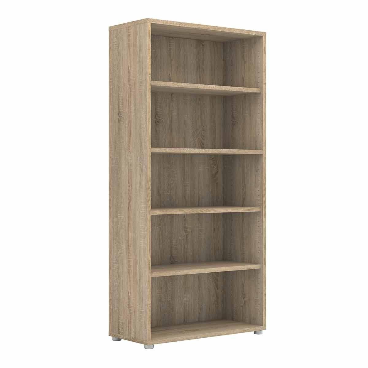 Prima Bookcase with 4 Shelves Oak