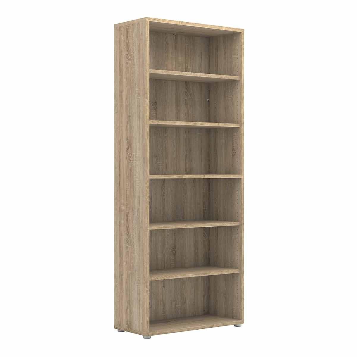 Prima Bookcase with 5 Shelves in Oak Oak