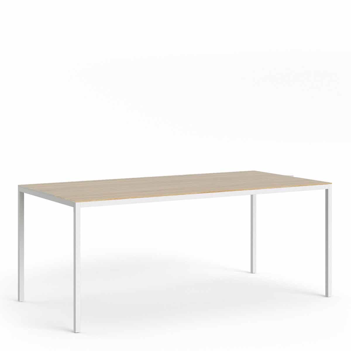 Multiuse Table 900 x 1800 White Light Oak