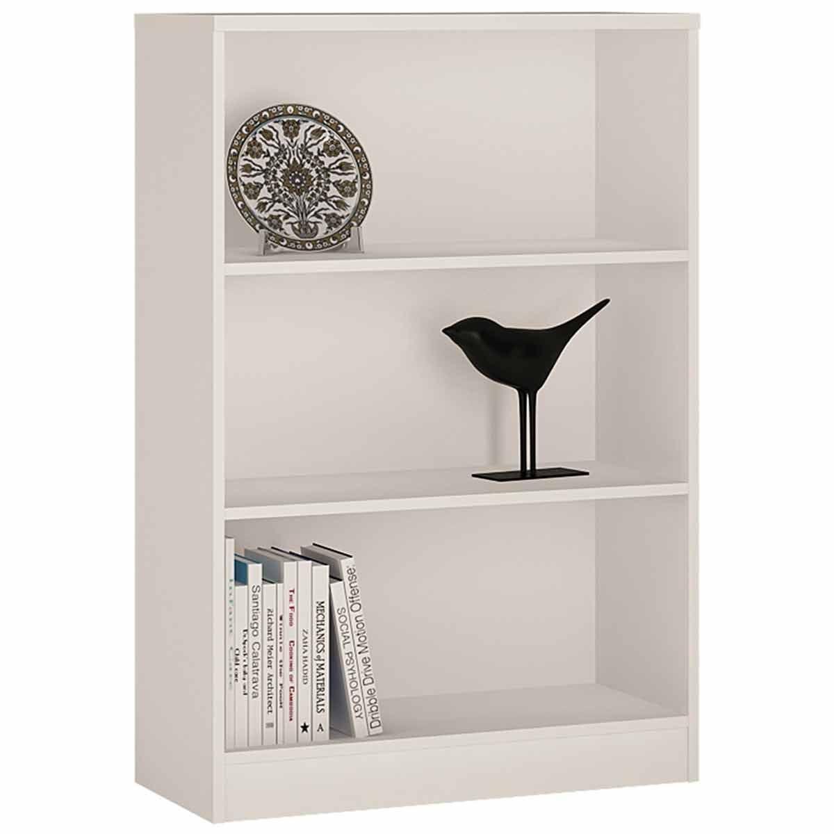 4 You Medium Wide Bookcase White