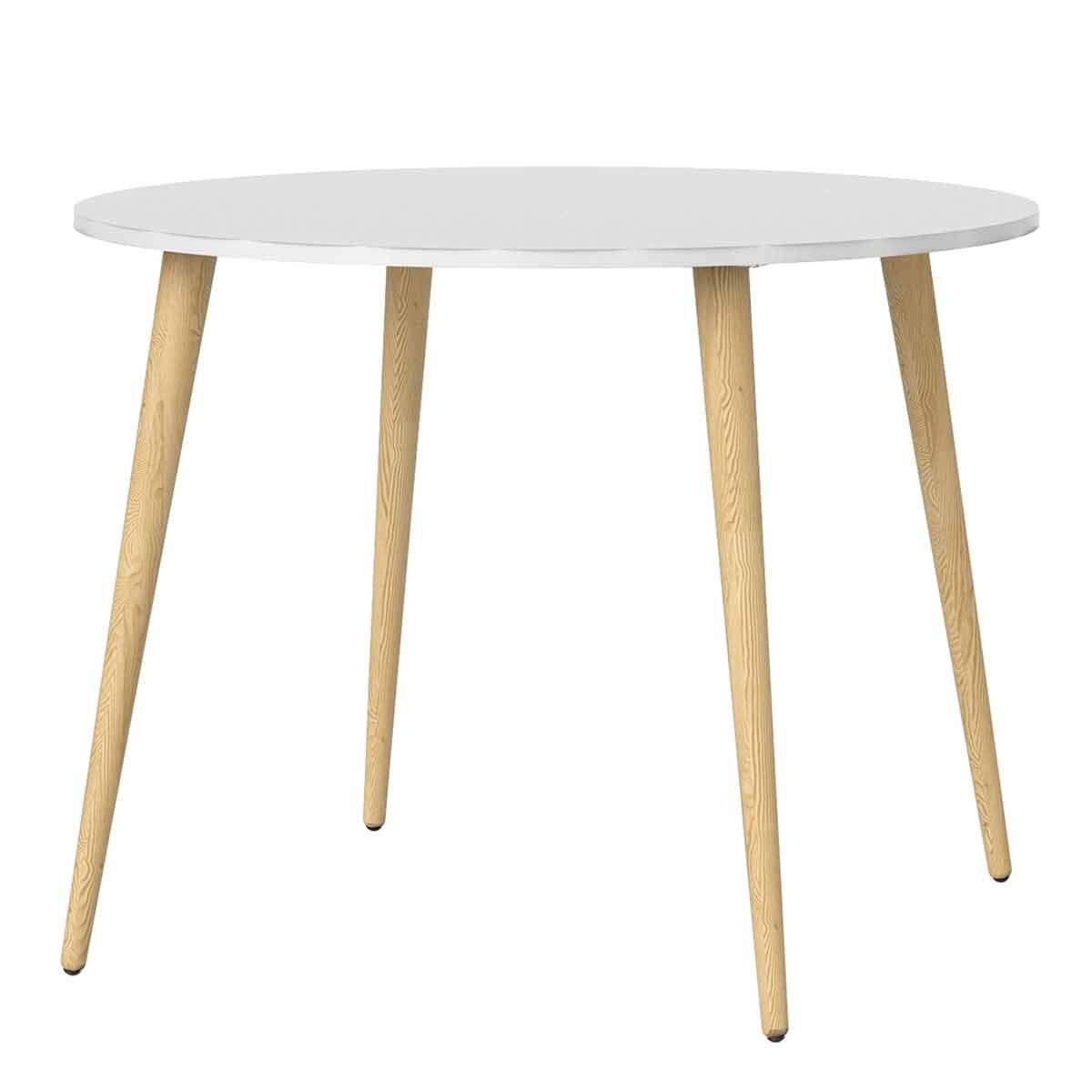 Oslo Circular Dining Table White 100cm