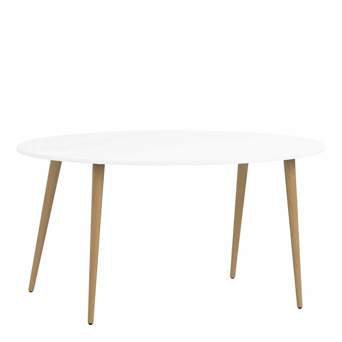 Oslo Oval Dining Table White 160cm