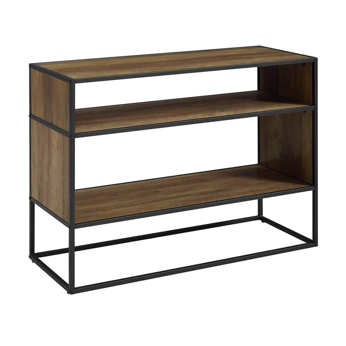 Sambre Modern Industrial Bookcase 102cm Oak