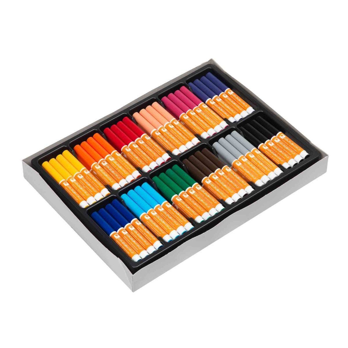 Colourworld Marker Conical Tip Pack of 144 Assorted