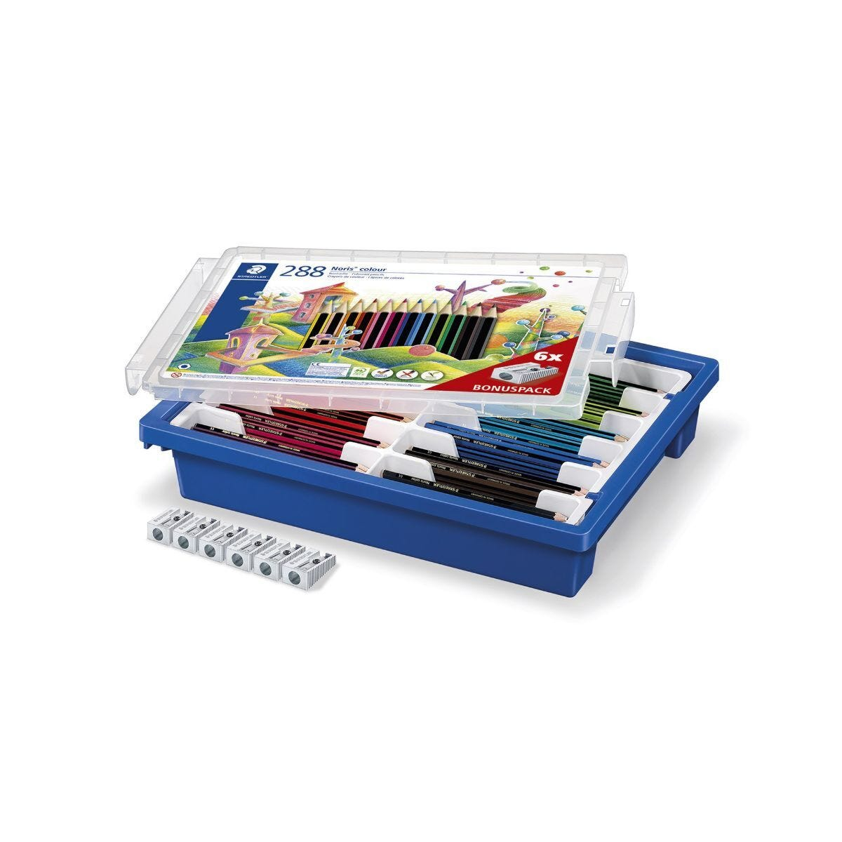 Staedtler Noris Colouring Pencils Pack of 288 in Gratnell Tray