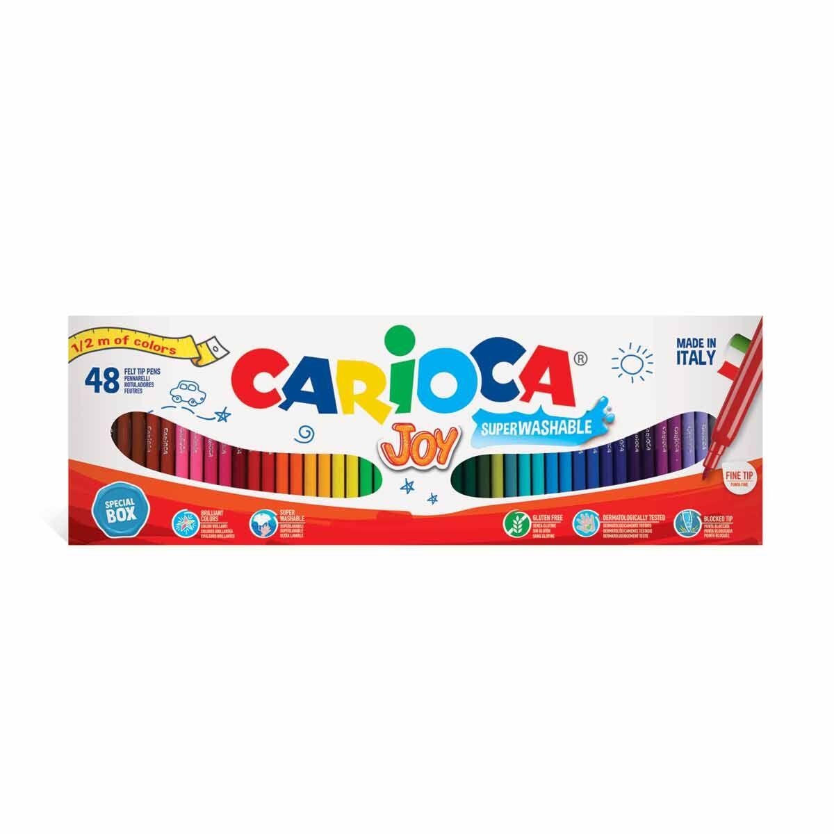Carioca Fibre Colouring Pens Set of 48