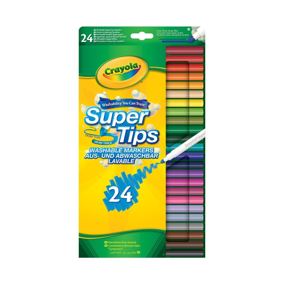 Crayola Supertips Washable Pens Pack of 24