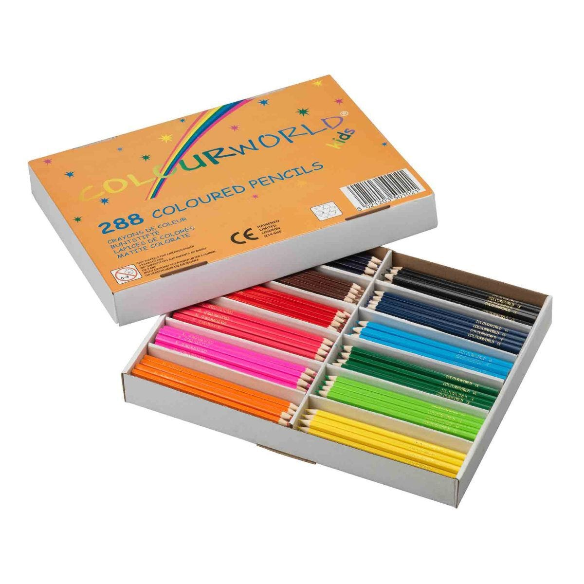 Colourworld Children's Colouring Pencils Assorted Pack of 288