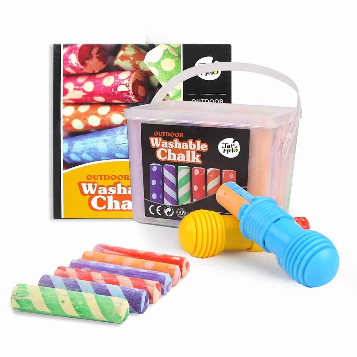 Jar Melo Washable Pavement Chalks Pack of 24