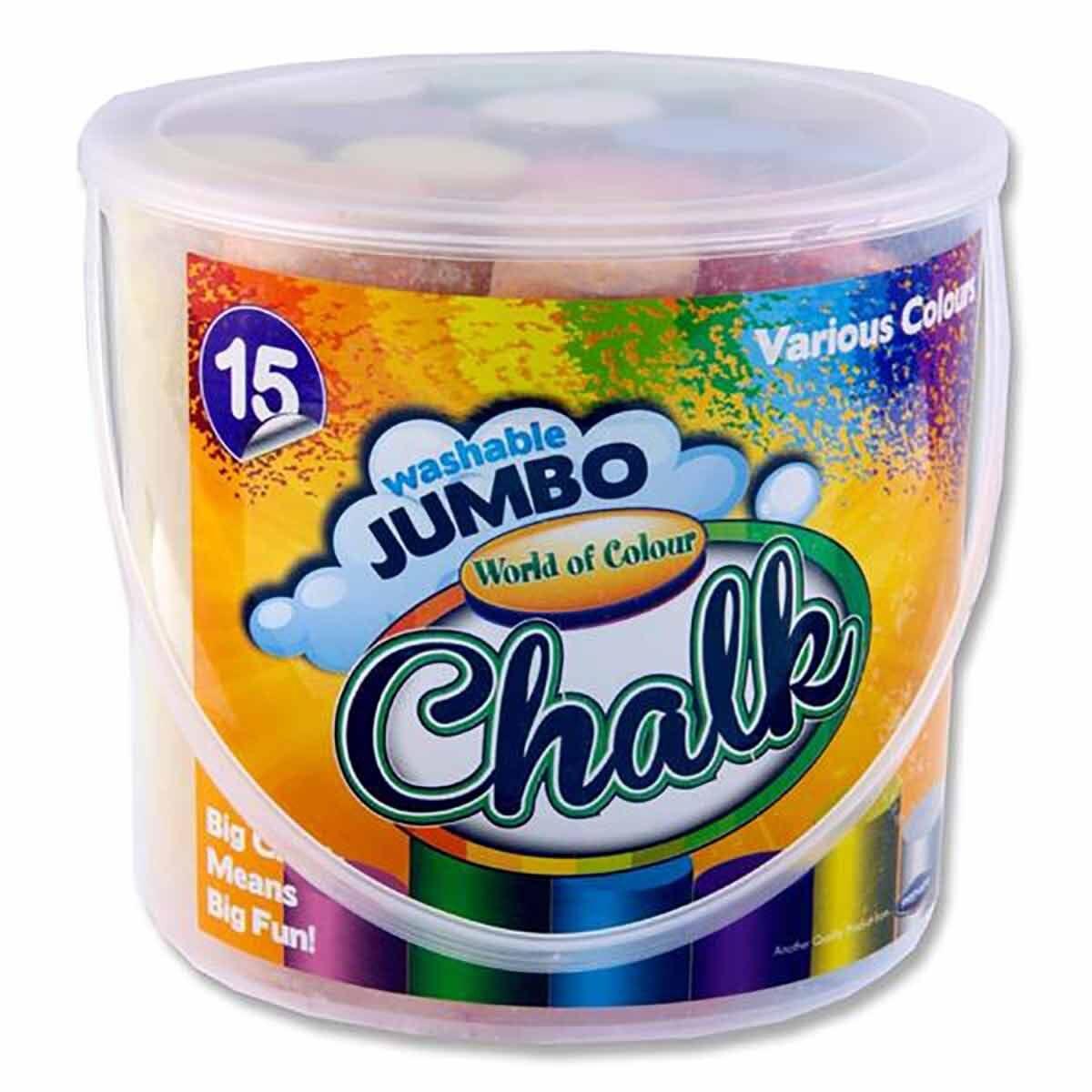 World of Colour 15 Jumbo Sidewalk Chalks Assorted