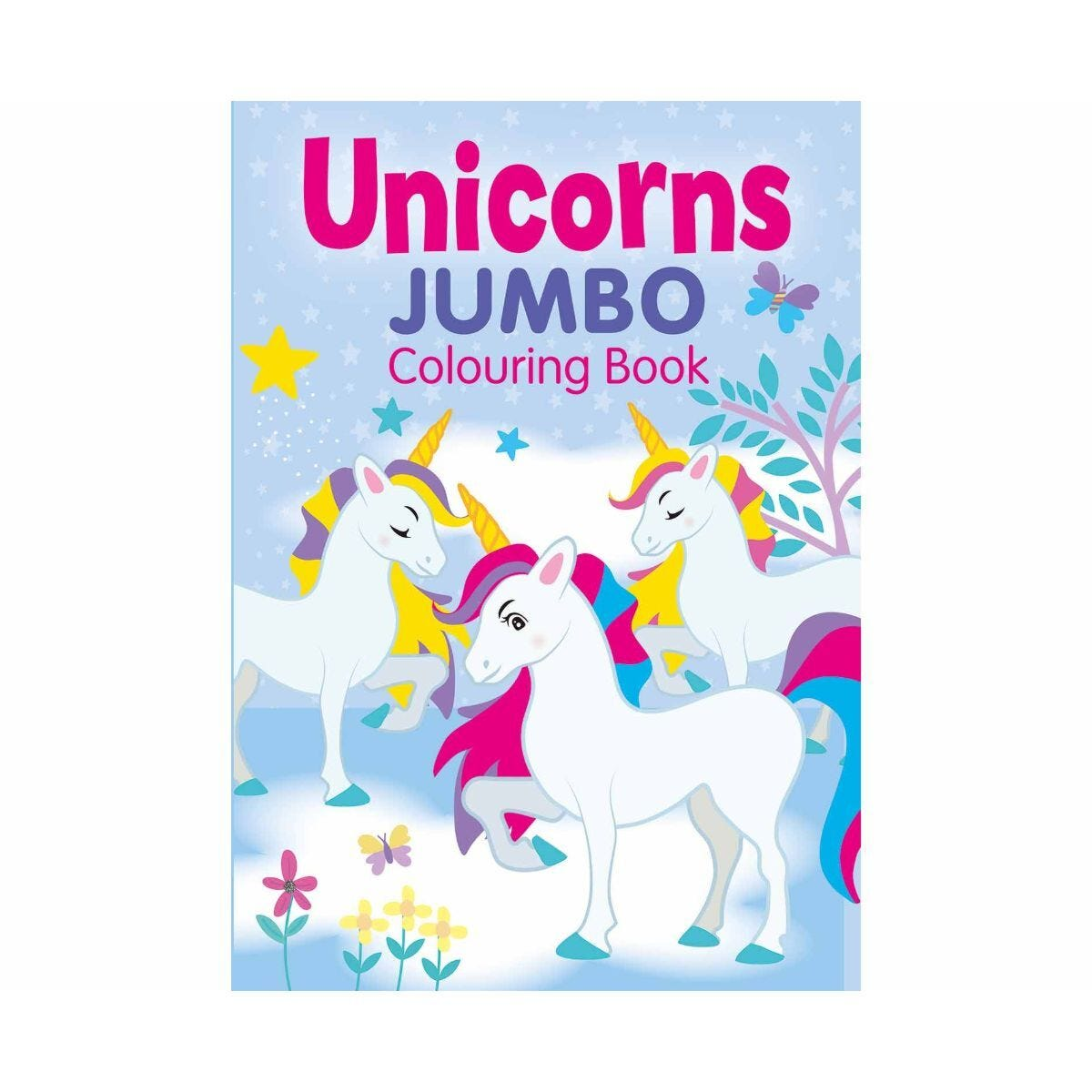 Unicorns Jumbo Colouring Book A4 160 Pages