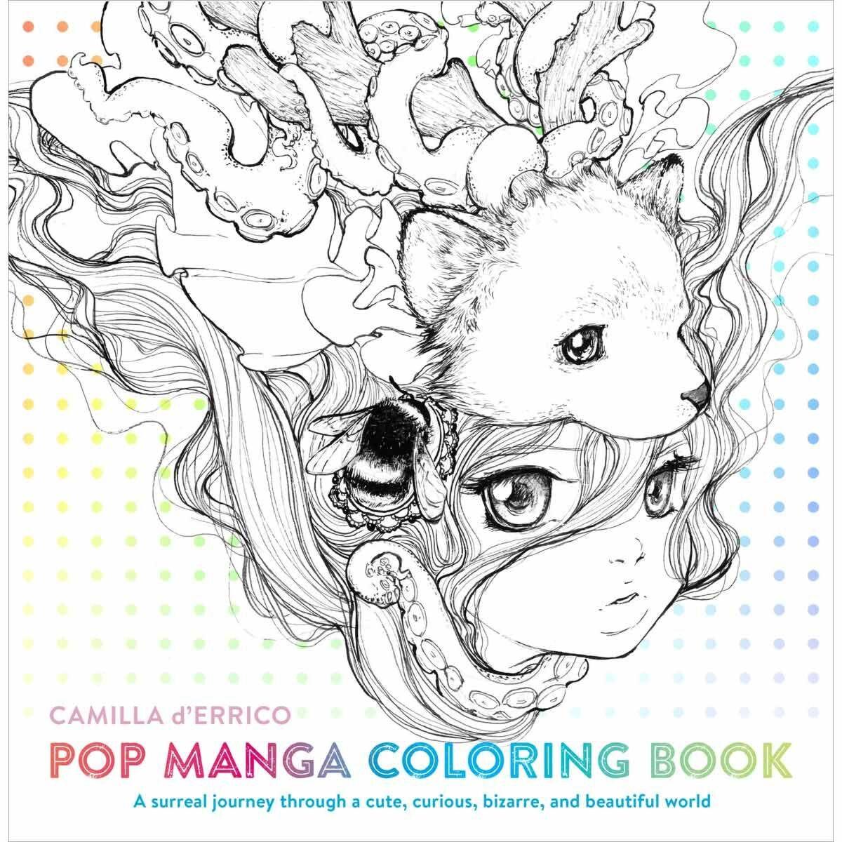 Camilla d Errico Pop Manga Colouring Book
