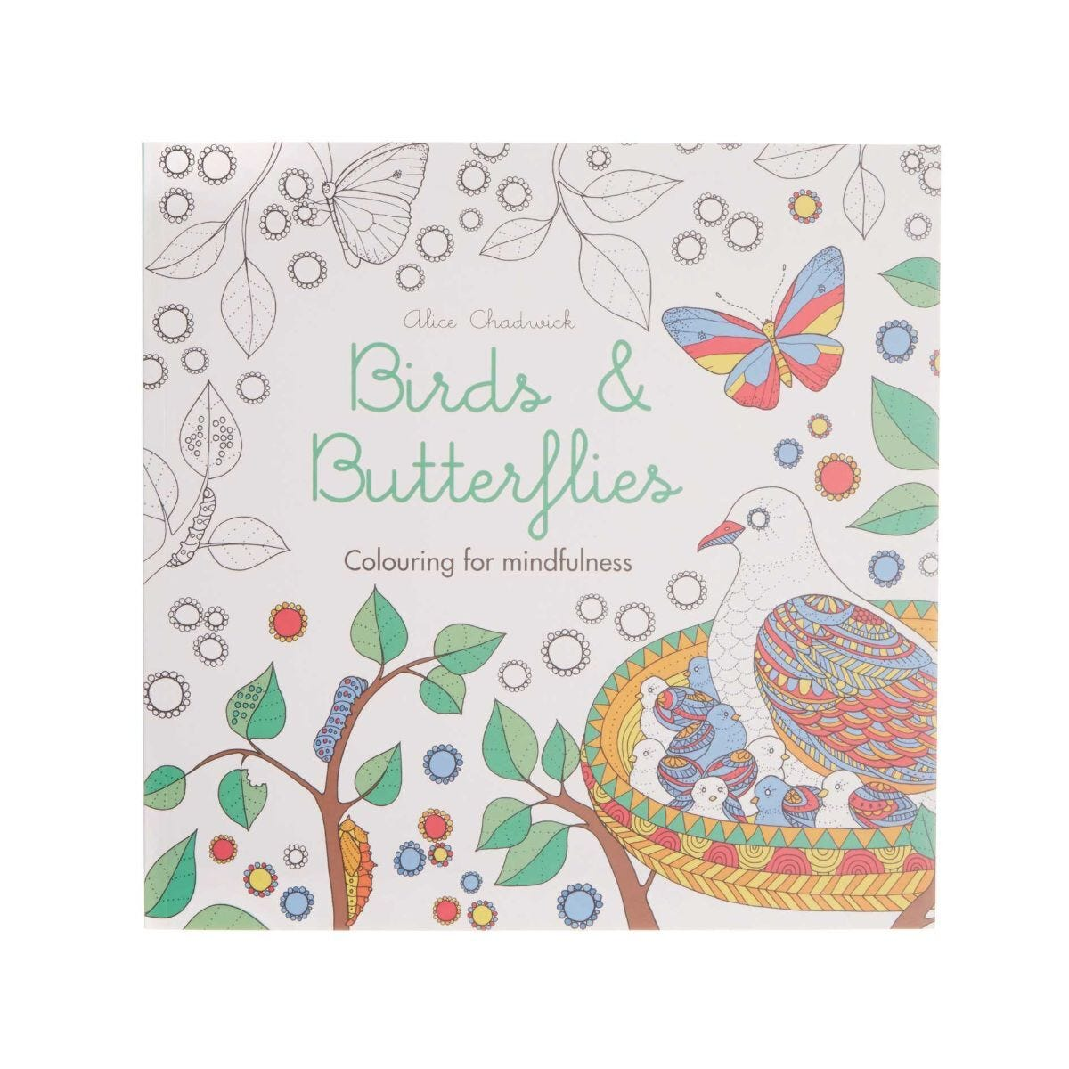 Birds and Butterflies Colouring For Mindfulness