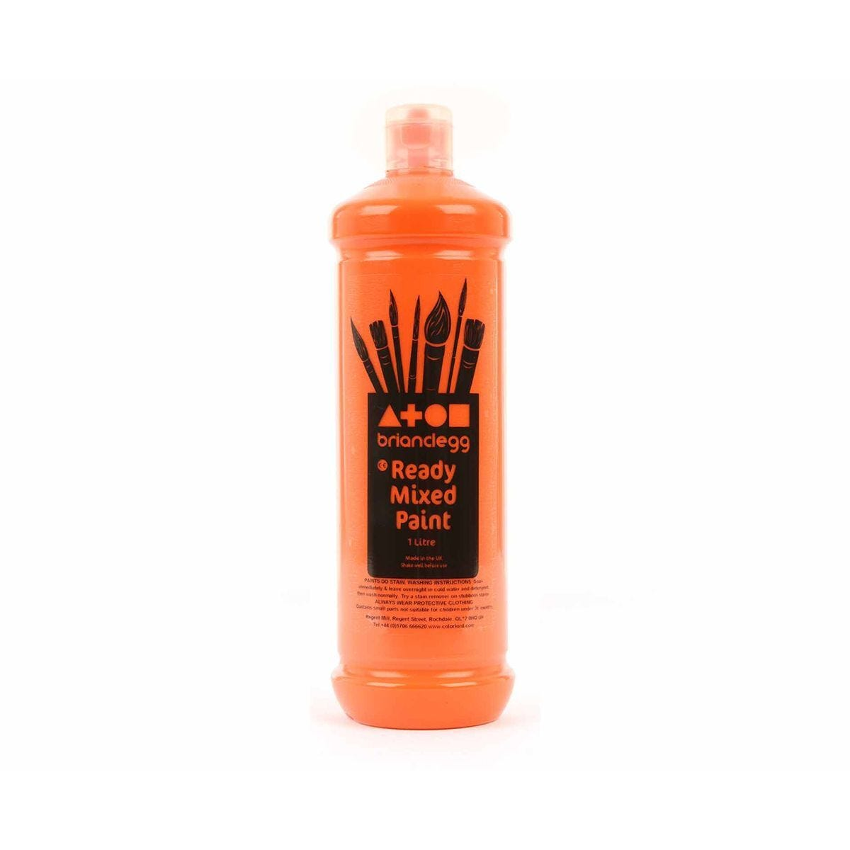 Brian Clegg Ready Mixed Paint 1 Litre Orange