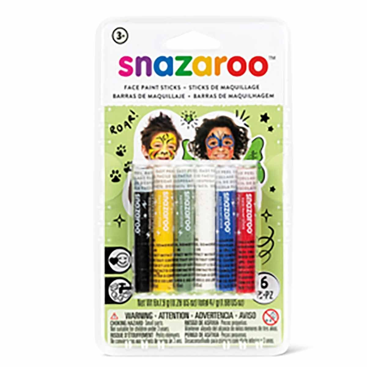Snazaroo Face Painting Sticks Pack Of 6