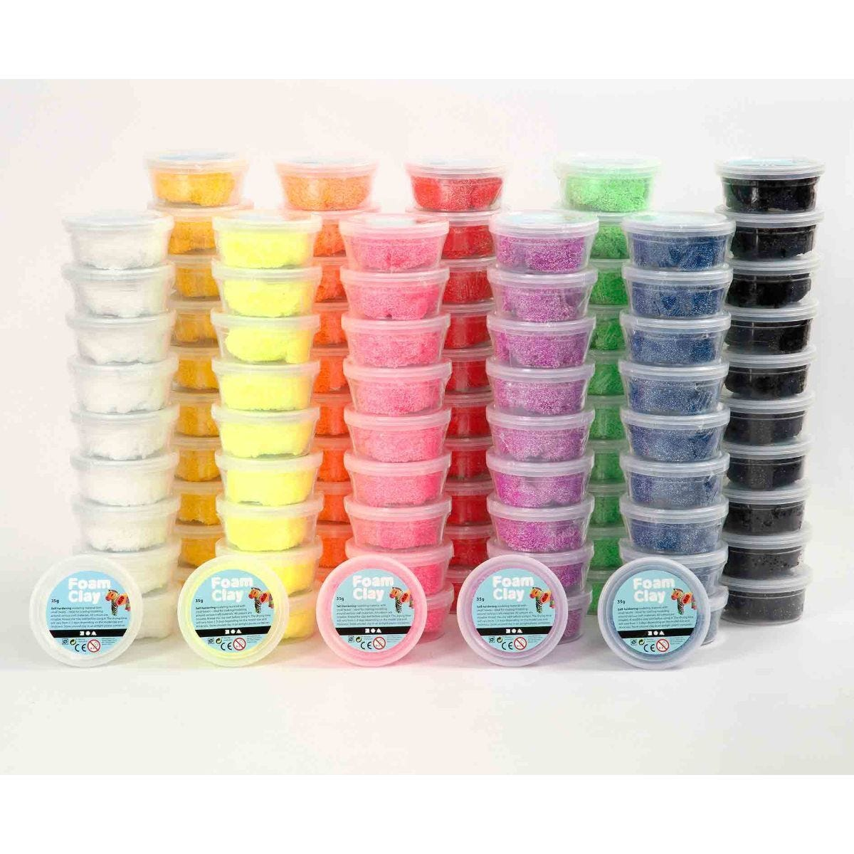 Foam Clay Pack of 100 x 35g Assorted Colours