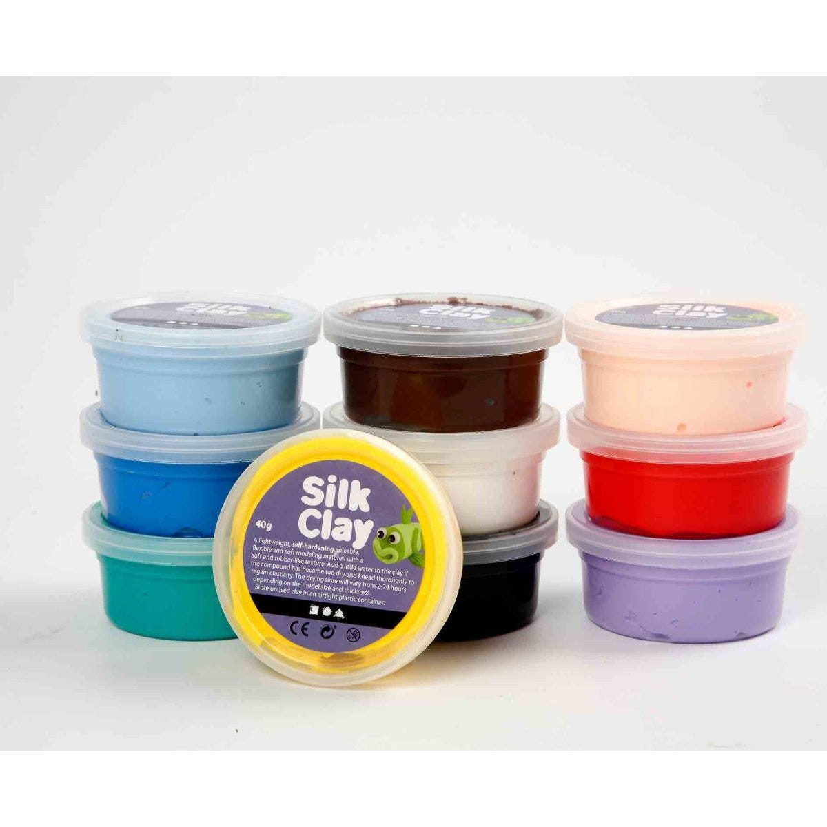 Silk Clay Pack of 10 x 40g Assorted Colours