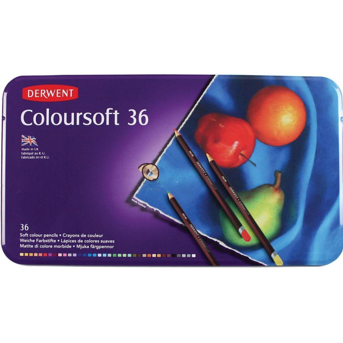 Derwent Coloursoft Pencils  Set of 36