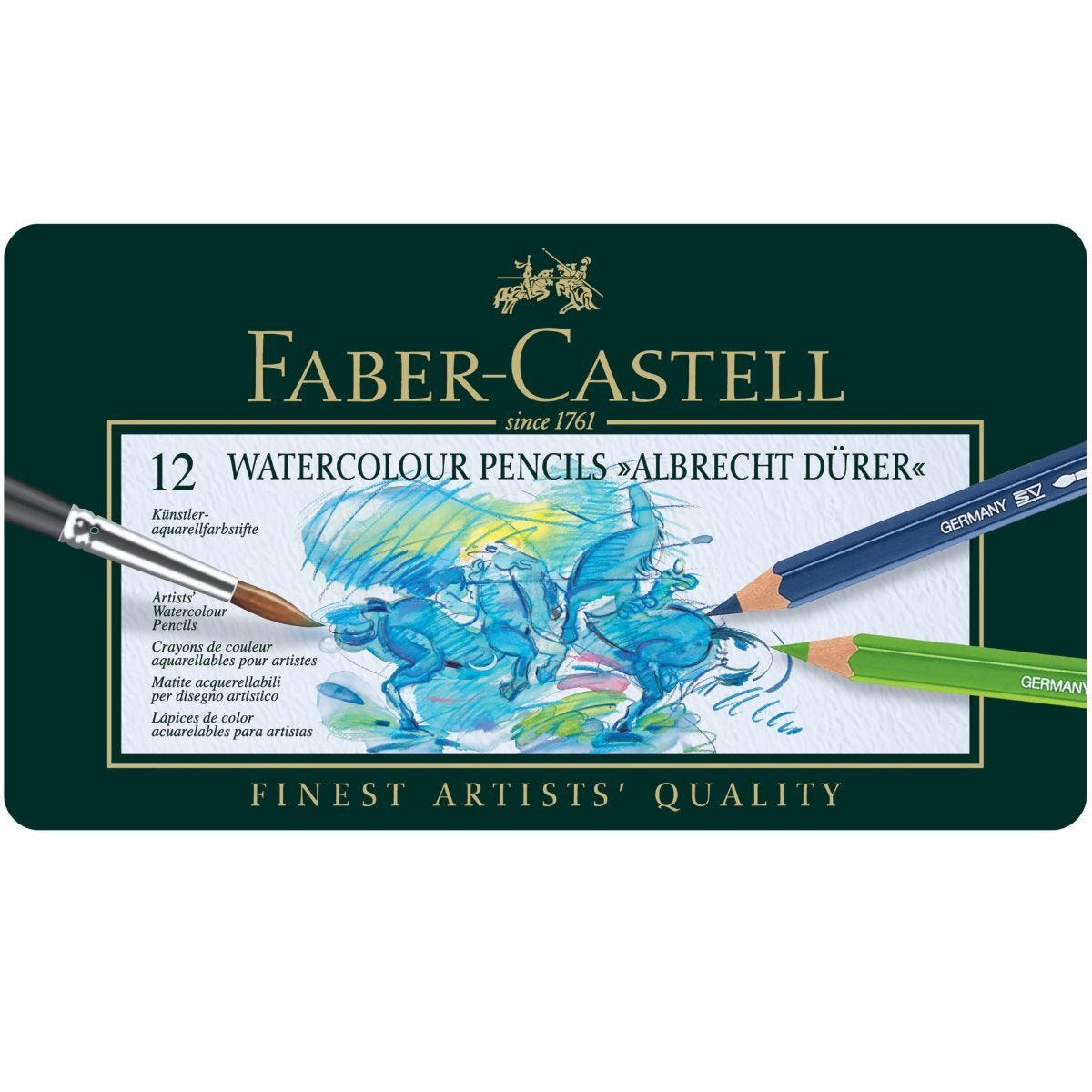 Faber Castell Polychromos Watercolour Pencils Set of 12