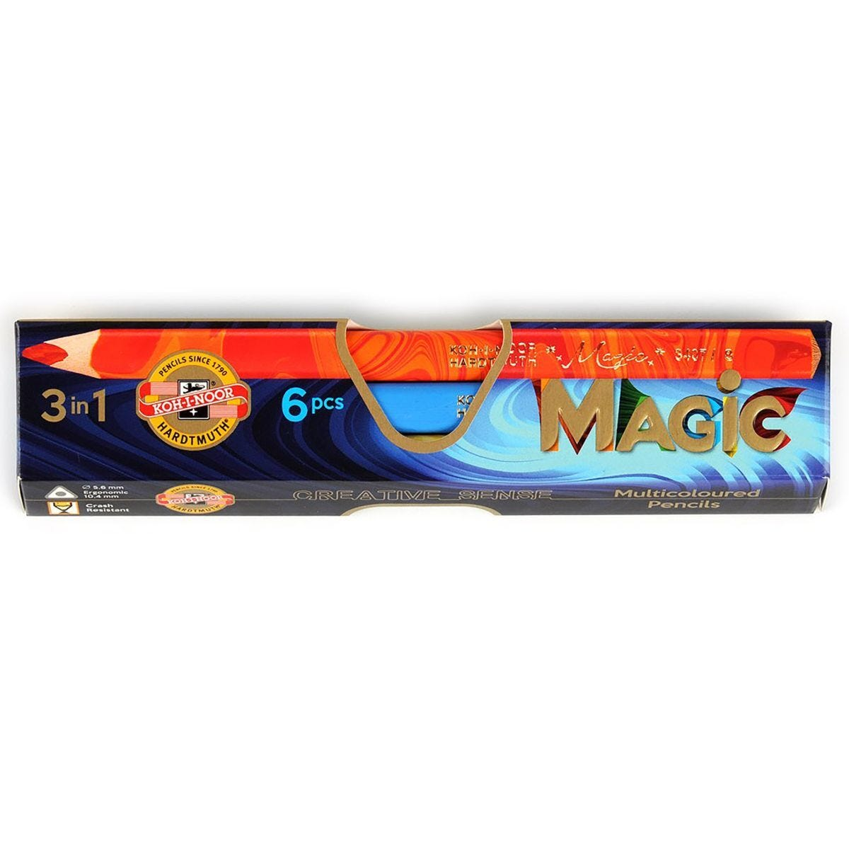 Koh-I-Noor Magic Pencils Jumbo Triangular Pack of 6 Special