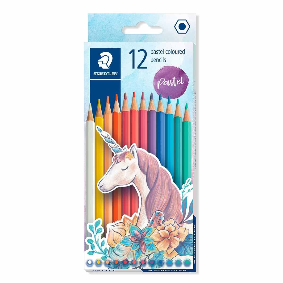 Staedtler Pastel Colouring Pencils 12 Pack
