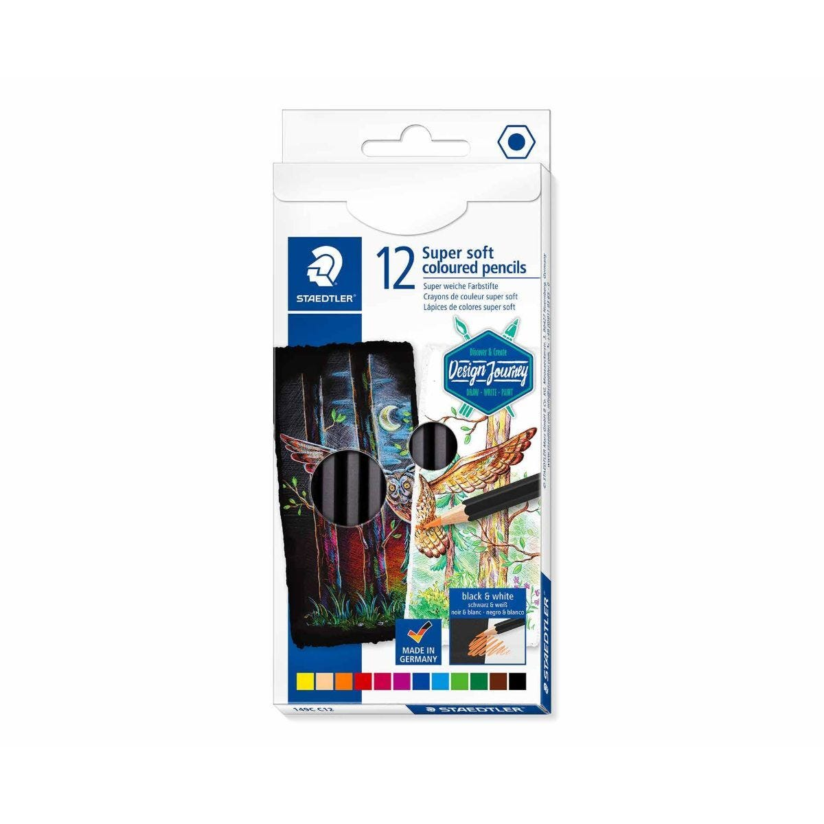 Staedtler Design Journey Super Soft Colouring Pencils Pack of 12