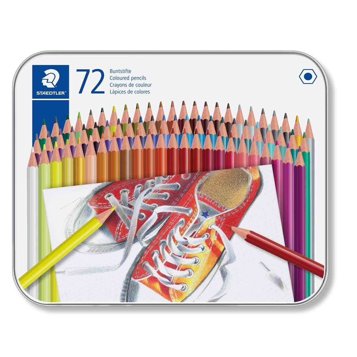 Staedtler Colouring Pencils Tin of 72