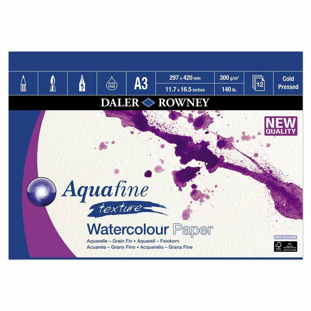 Daler Rowney Aquafine Watercolour Pad A3