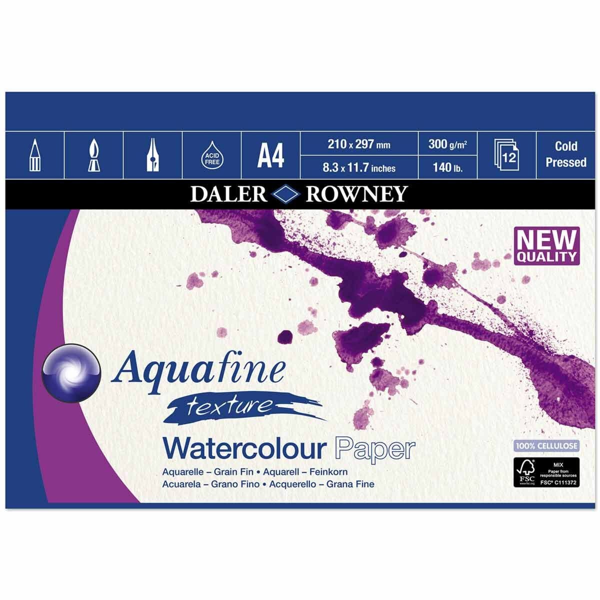 Daler Rowney Aquafine Watercolour Pad A4