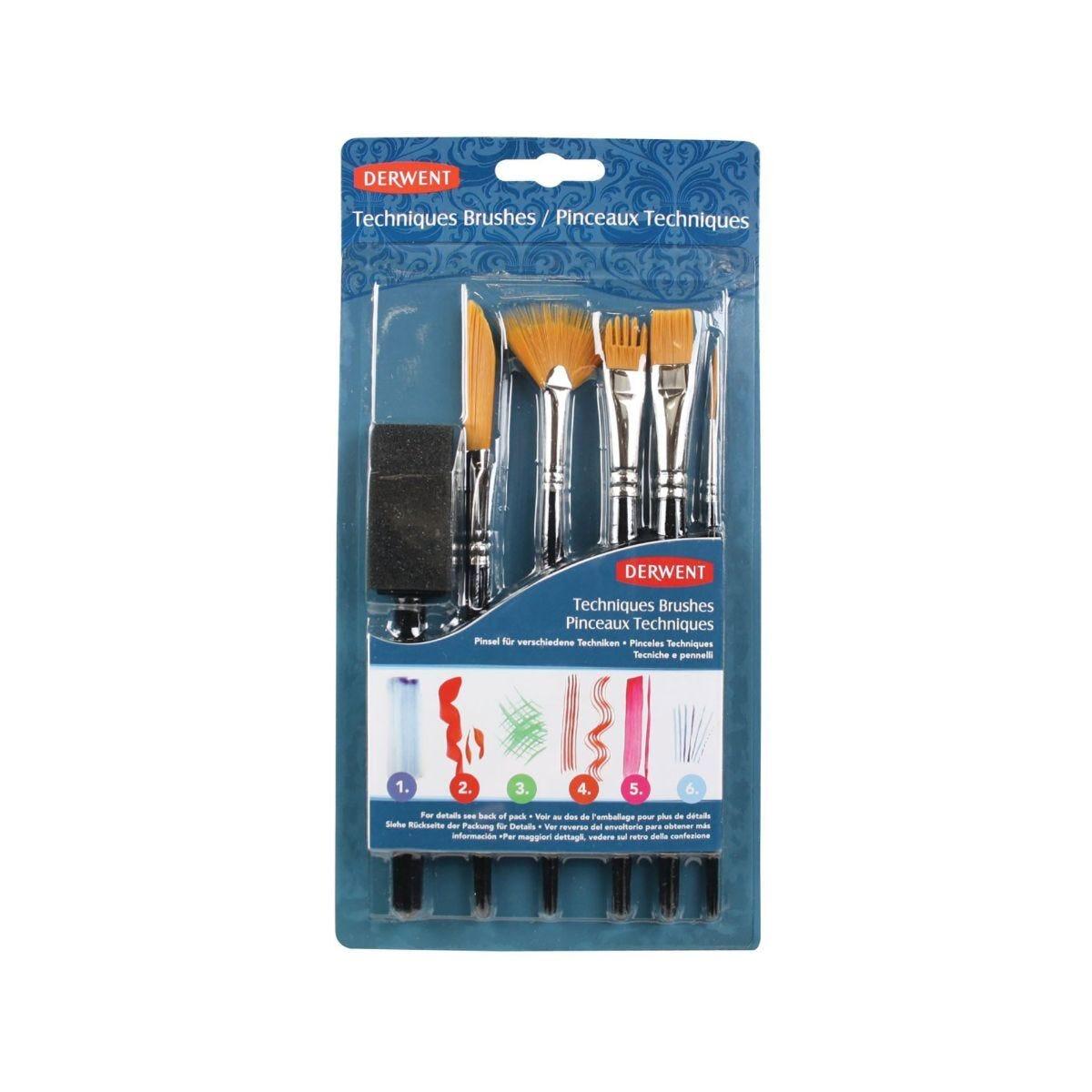 Derwent Technique Brushes Set