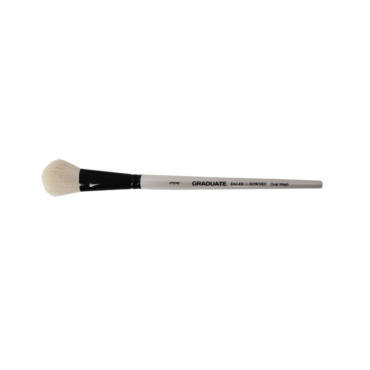Daler Rowney Graduate Brush White Goat Oval Wash Three Quarter
