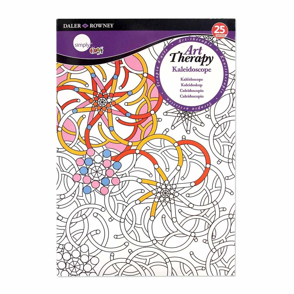 Daler Rowney Art Therapy Colouring Book Kaleidoscope A5