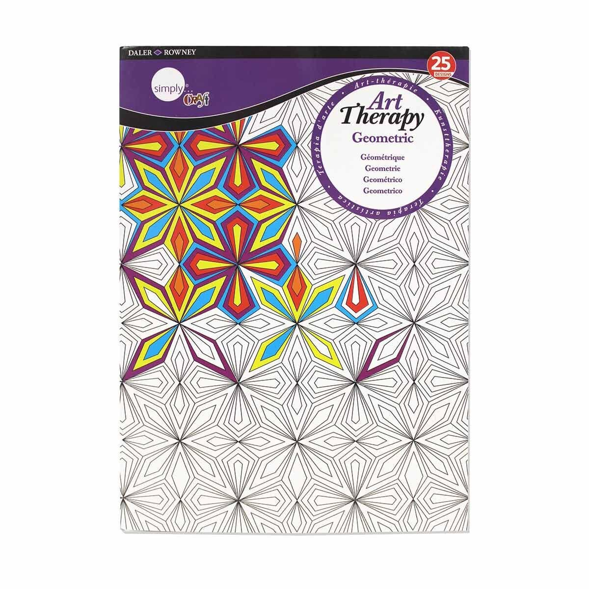 Daler Rowney Art Theraby Colouring Book Geometric A4