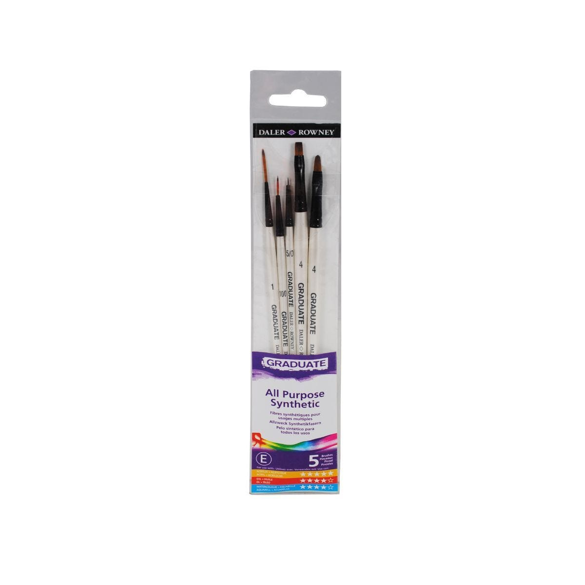 Daler Rowney Graduate Brush Set Pack of 5