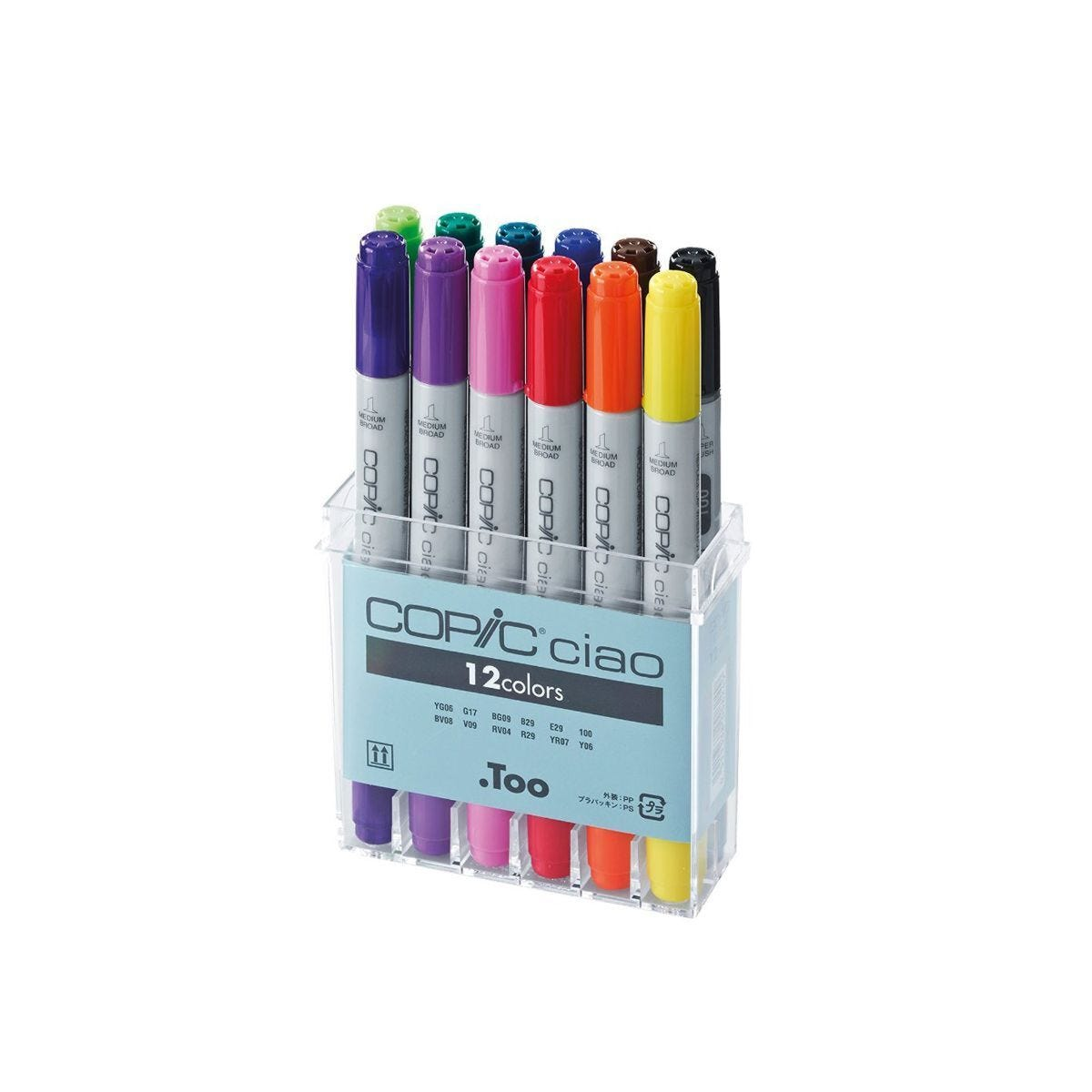 Copic Ciao Marker Pens Basic Colours Pack of 12